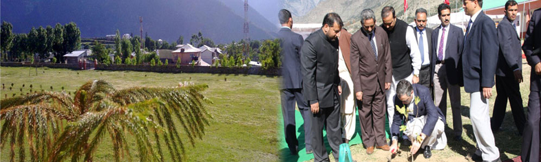 Plantation by CM In Kishtwar Campus